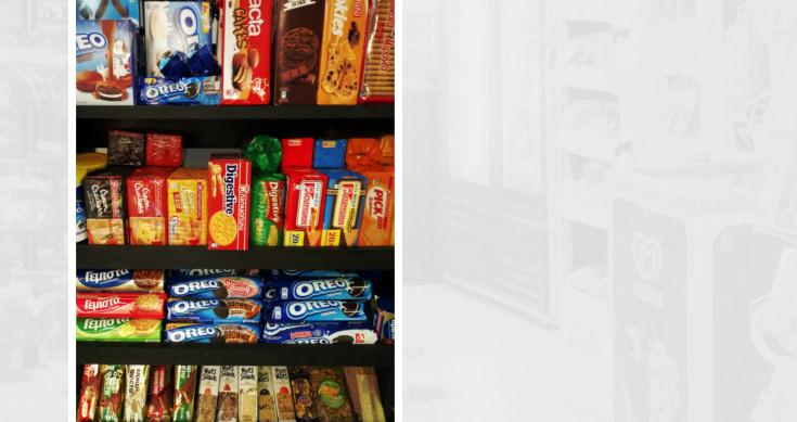 Σοκολάτες, μπισκότα, ξηροί καρποί